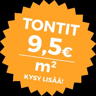 Yritystontit 9,5€ / m2
